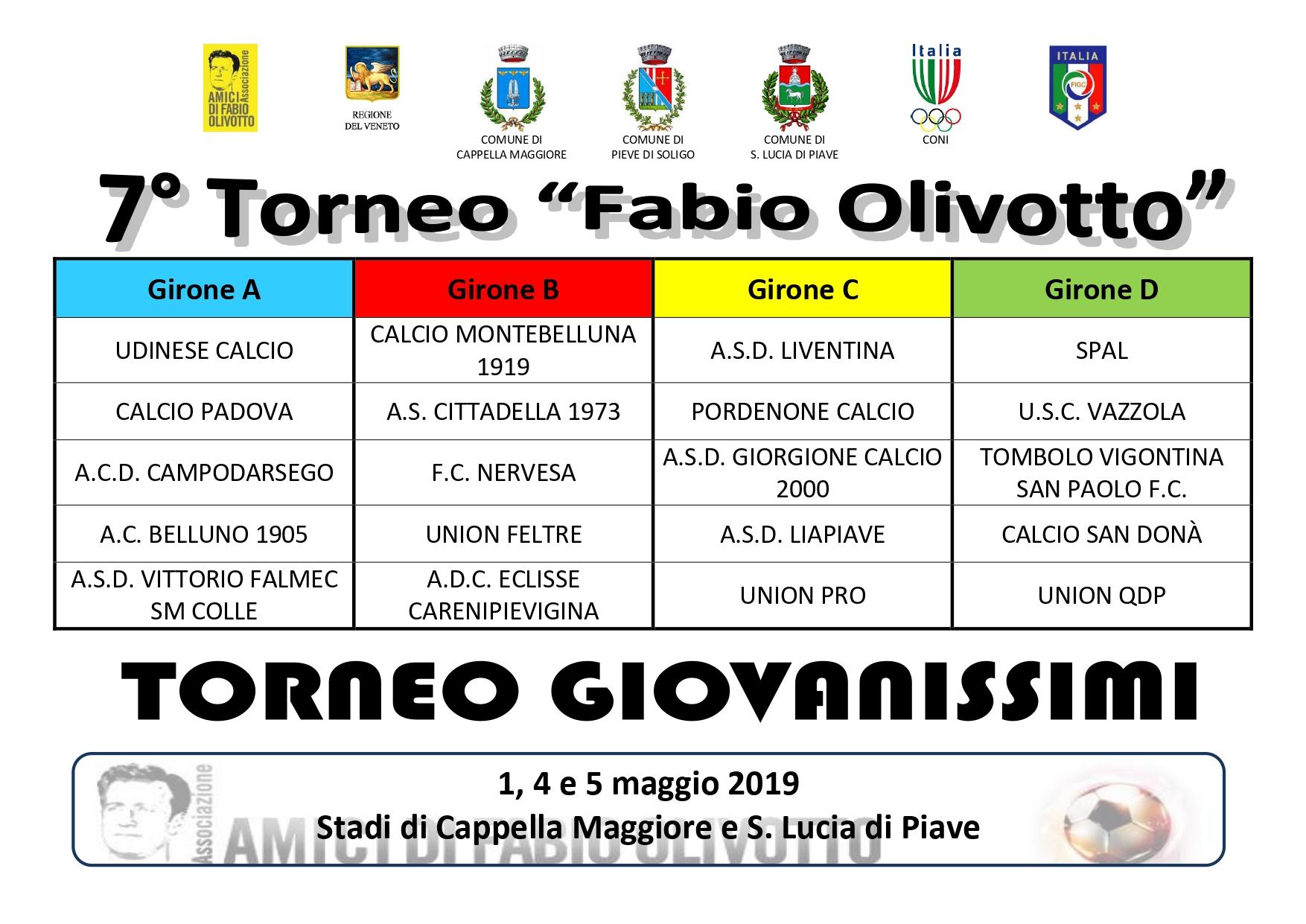 Calendario Torneo A 7 Squadre.Presentazione 7 Torneo Fabio Olivotto Associazione Amici